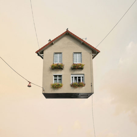 Flying houses life is beautiful by laurent chéhère