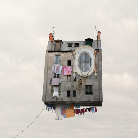 Flying houses the linen by laurent chéhère