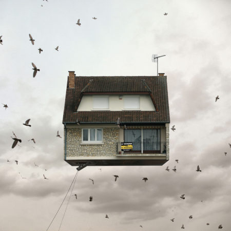 Flying houses for sale by laurent chéhère