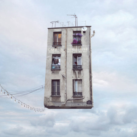 Flying houses by laurent chéhère