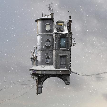 Zeynep represents flying houses lost street