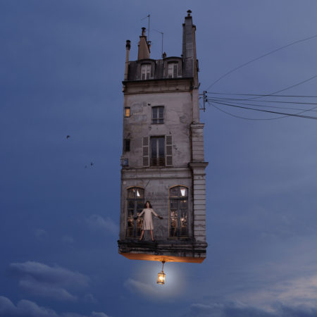 Flying houses who are you by laurent chéhère