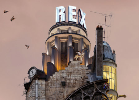 Flying house notre dame by laurent chéhère