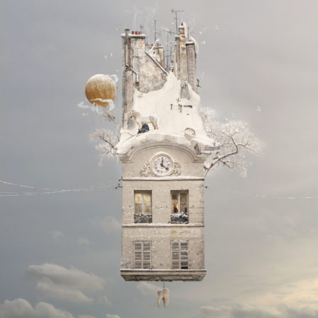 """solstice"" flying houses by laurent chéhère"