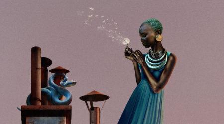Zeynep represents flying houses le crépuscule des dieux